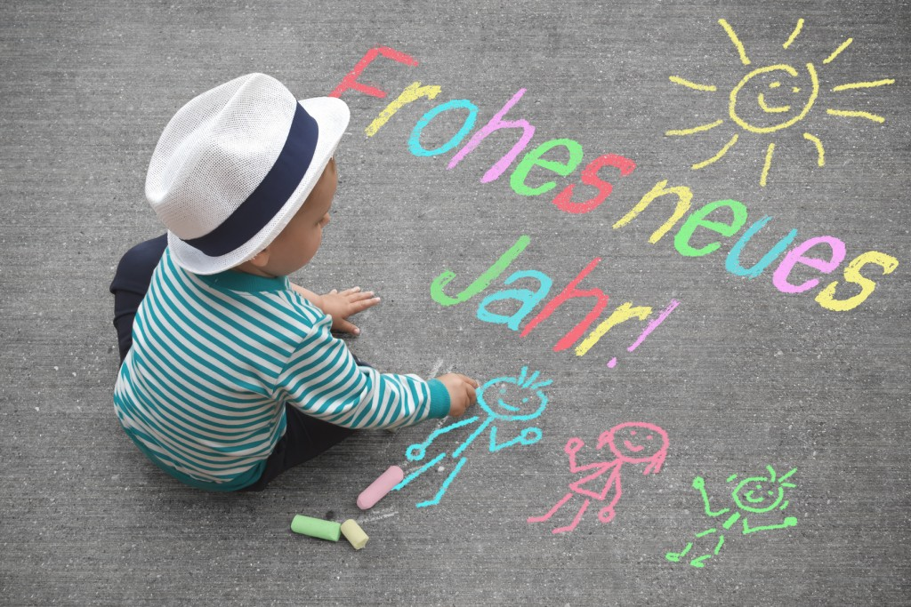 Kinderzeichnung - Frohes neues Jahr!